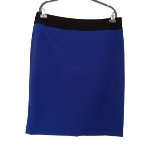 KASPER Royal Blue & Black Career Wear Skirt 12